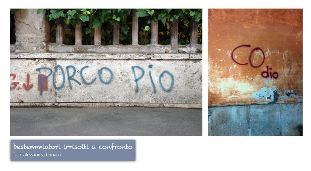 Fotografia Humour | Bestemmiatori irrisolti a confronto | Fotografia di Alessandra Bonacci